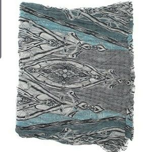 CEJON ALLOVER TRIBAL INFINITY LOOP SCARF SAGE/GREY